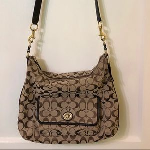 Coach satchel with matching wallet.